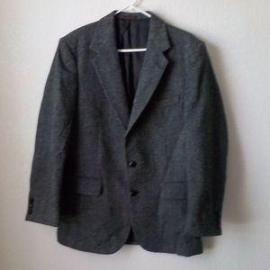 Austin Reeds Wool Blazer 40R Dark Gray Two Botton